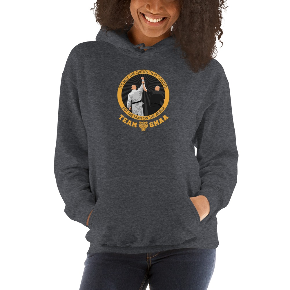 Goulburn Martial Arts Academy Women's Hoodie, Gold and Black Logo