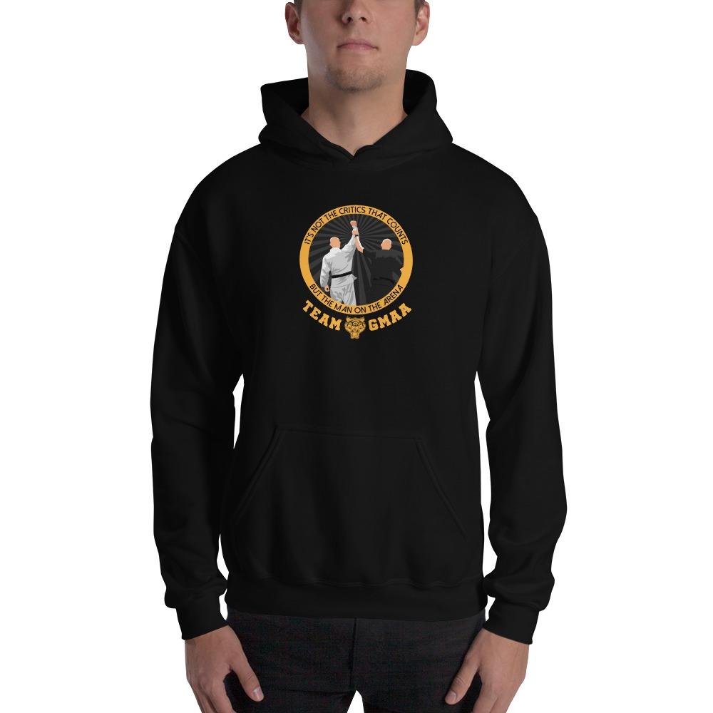 Goulburn Martial Arts Academy Men's Hoodie, Gold and Black Logo