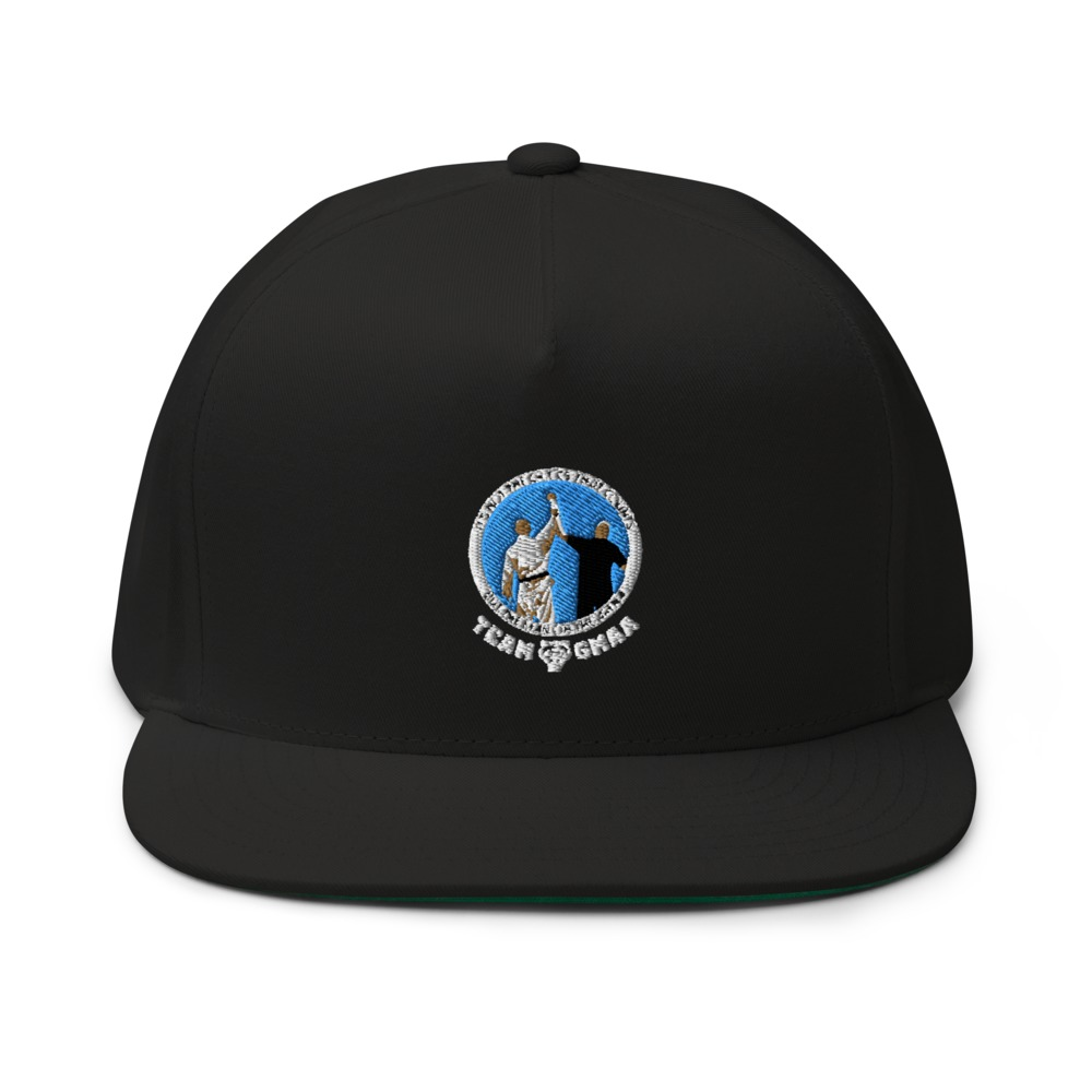 .Goulburn Martial Arts Academy Hat, White and Blue Logo