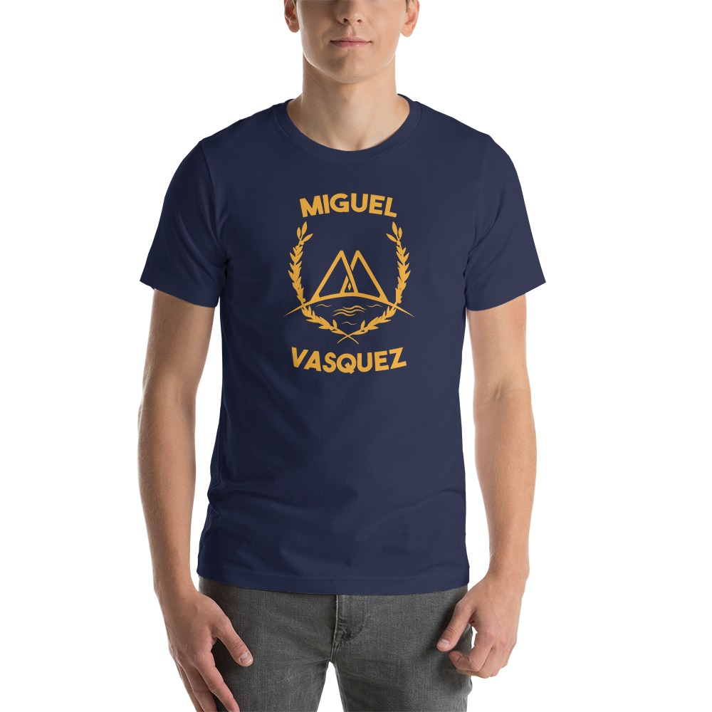 Miguel Vásquez Men's T-Shirt, Gold Logo