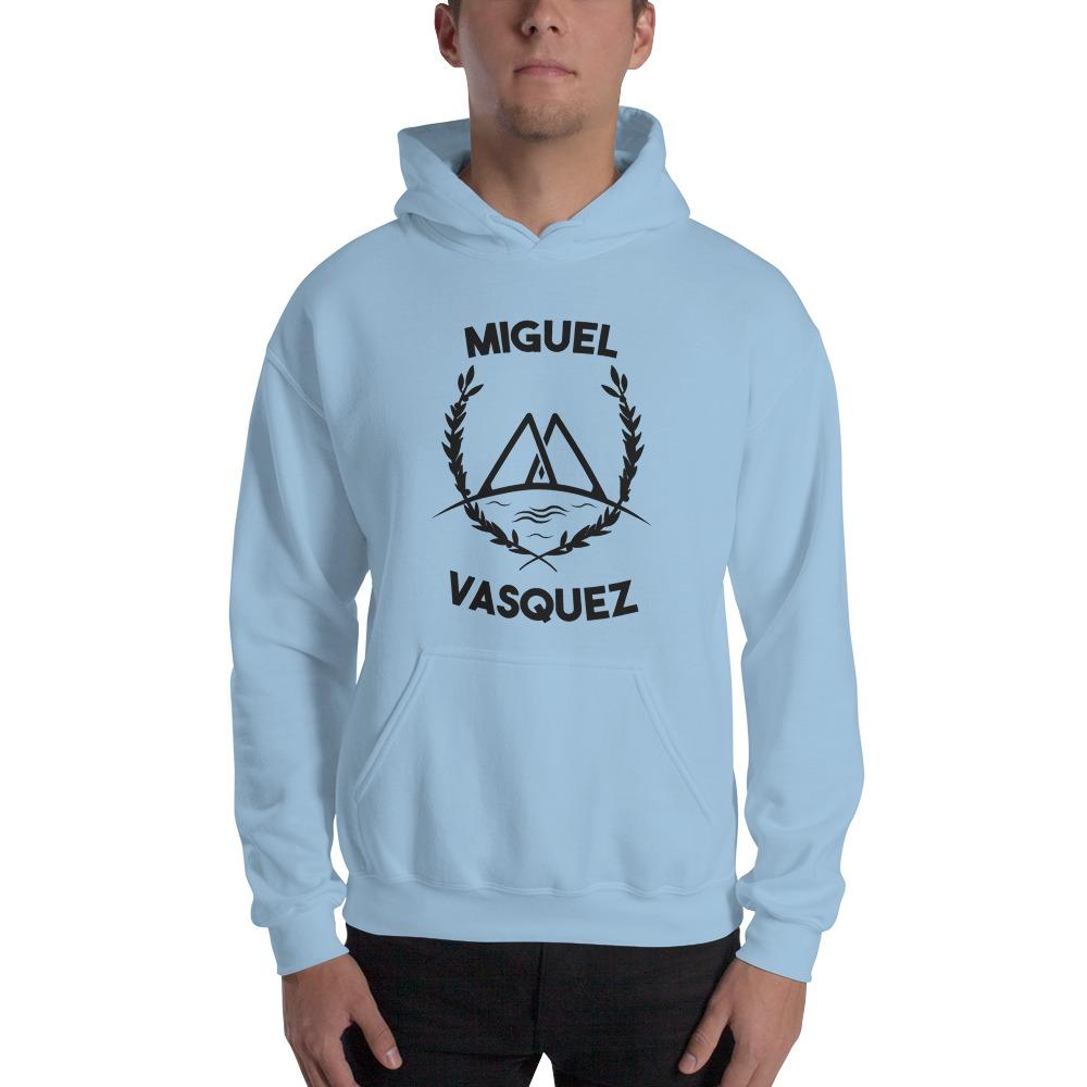 Miguel Vásquez Men's Hoodie, Black Logo