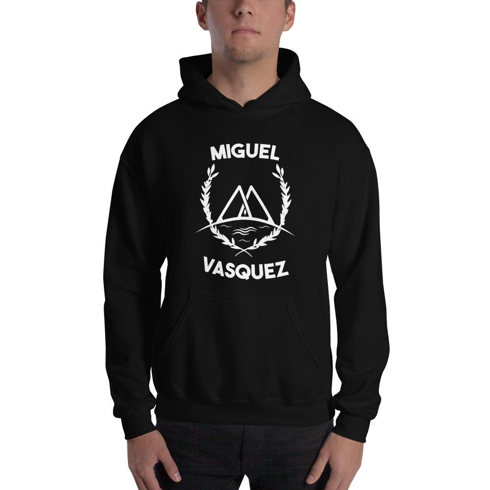 Miguel Vásquez Men's Hoodie, White Logo
