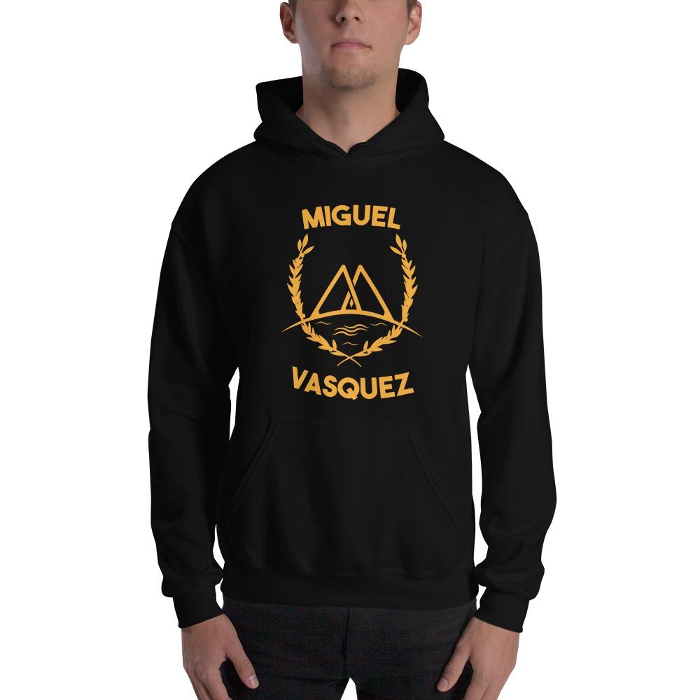Miguel Vásquez Men's Hoodie, Gold Logo