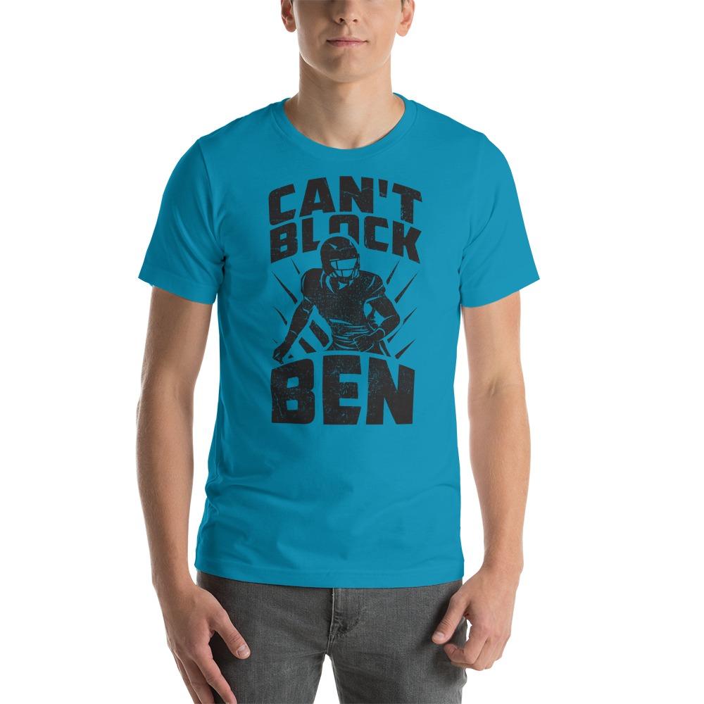 """""""Can't Block Ben"""" by Ben Desmarais Men's T-Shirt, Black Logo"""