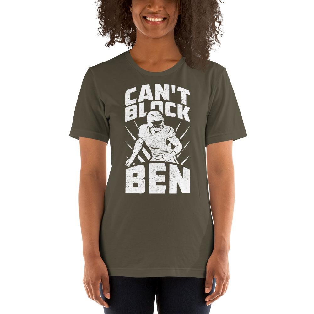 """""""Can't Block Ben"""" by Ben Desmarais Women's T-Shirt, White Logo"""