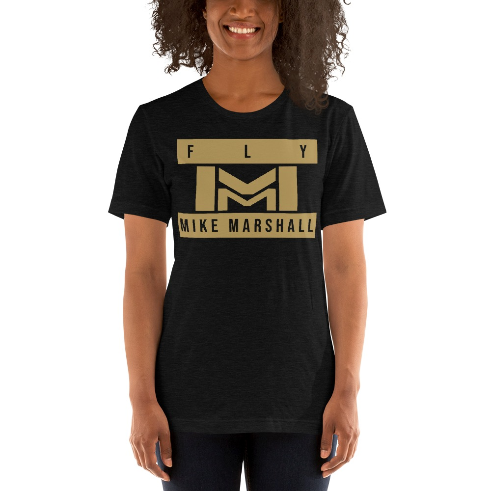 """""""FLY MIKE"""" by Mike Marshall Women's T-Shirt , Gold Logo"""