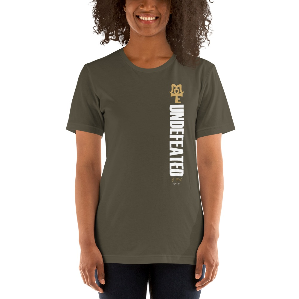 AJ McKee - Undefeated on front, Big Pendant on back - Women's T-Shirt