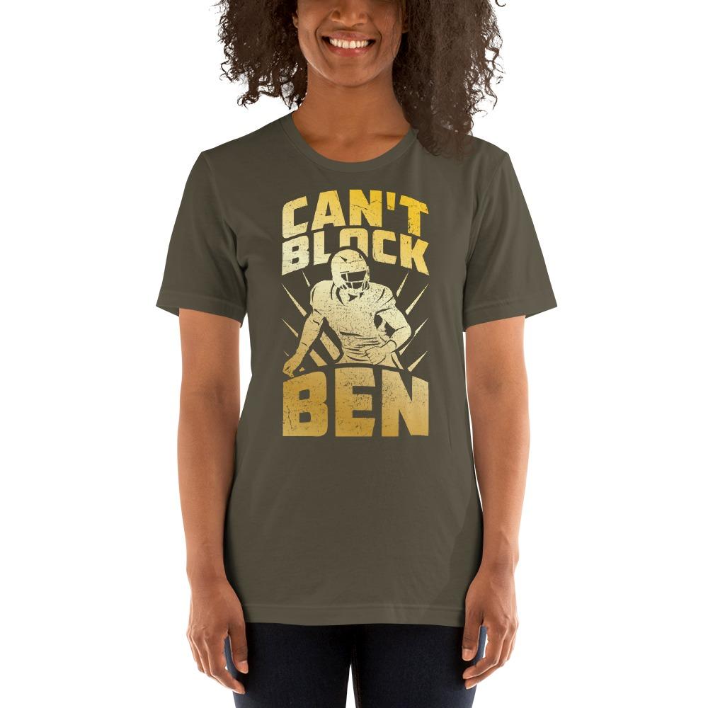 """""""Can't Block Ben"""" by Ben Desmarais Women's T-Shirt, Red Logo"""