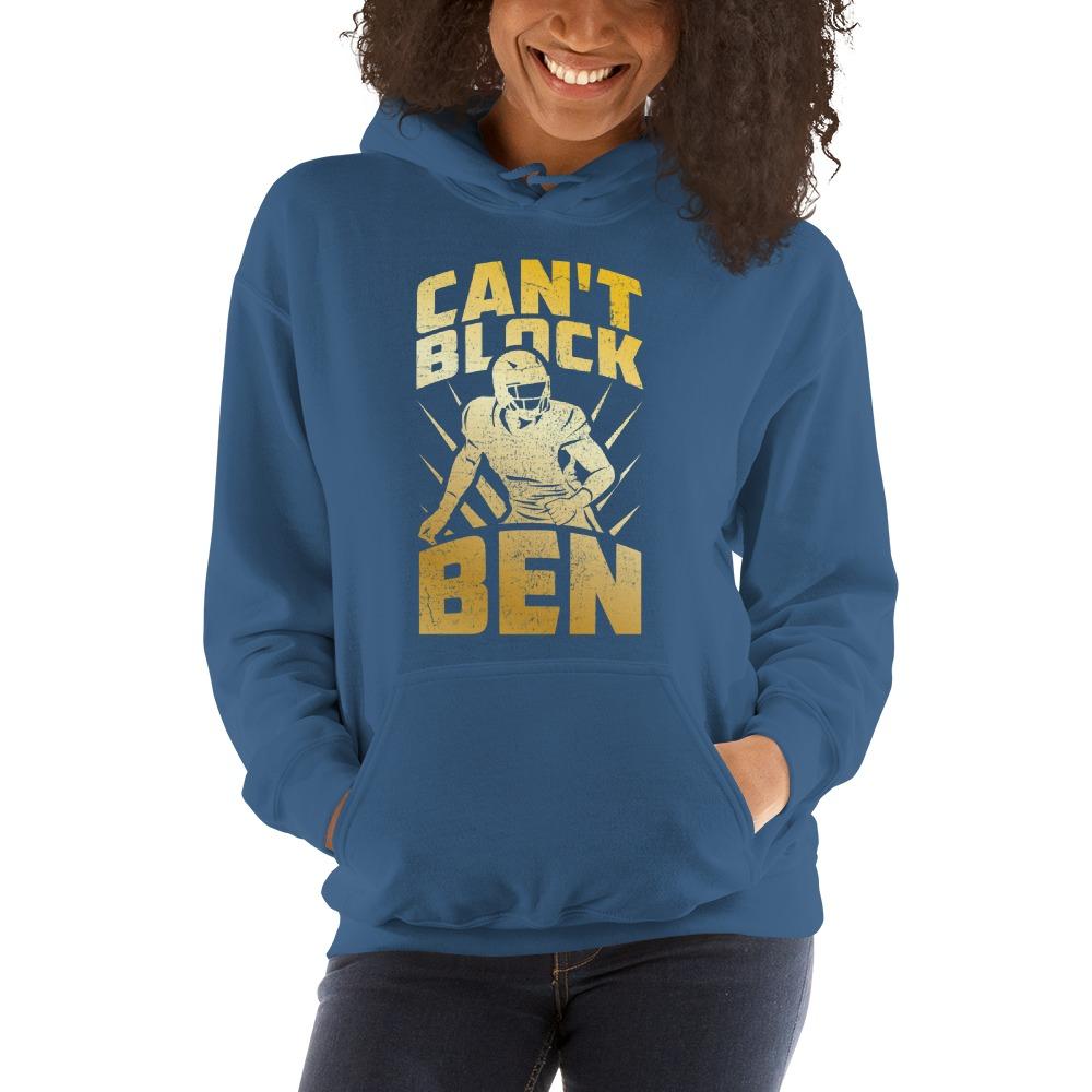 """""""Can't Block Ben"""" by Ben Desmarais Women's Hoodie, Gold Logo"""