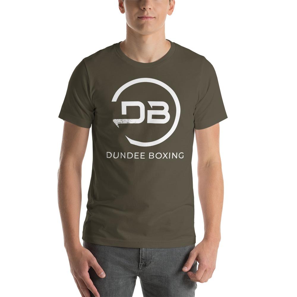 Team Dundee Boxing Men's T-Shirt, White Logo