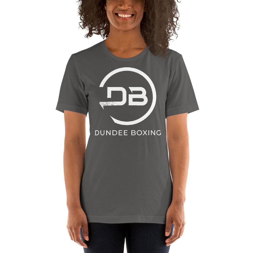 Team Dundee Boxing Women's T-Shirt, White Logo