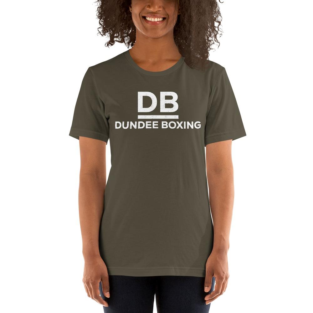 Dundee Boxing Women's T-Shirt, White Logo