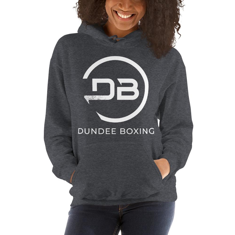 Team Dundee Boxing Women's Hoodie, White Logo