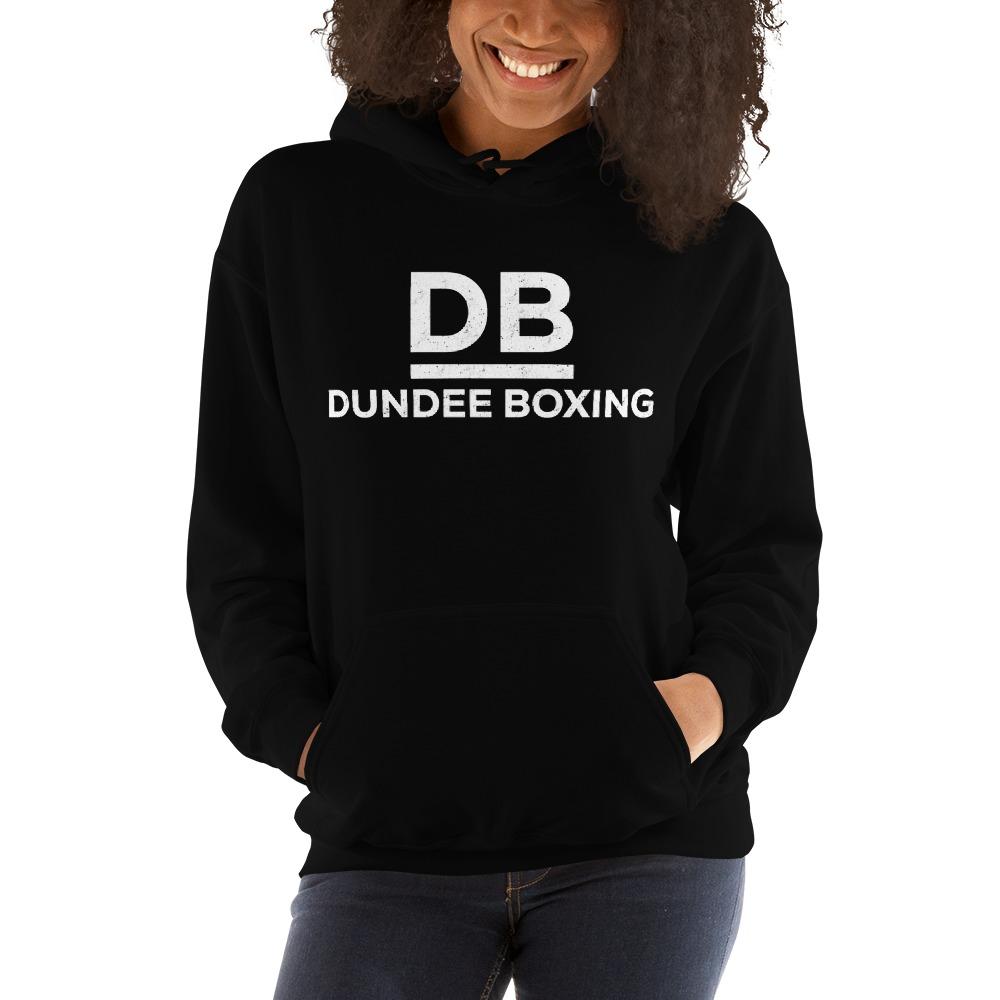 Dundee Boxing Women's Hoodie, White Logo