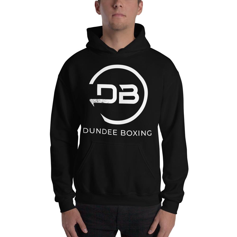 Team Dundee Boxing Men's Hoodie, White Logo