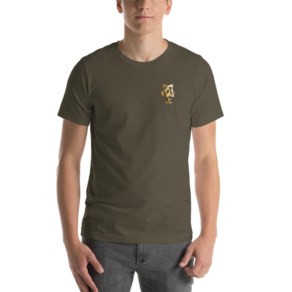 AJ Mckee - 18-0 Million Dollar Mindset on Back, Pendant on Front - Men's T-shirt