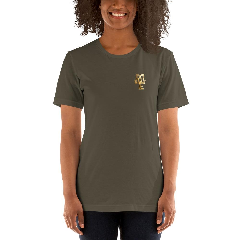 AJ Mckee - 18-0 Million Dollar Mindset on Back, Pendant on Front - Women's T-shirt
