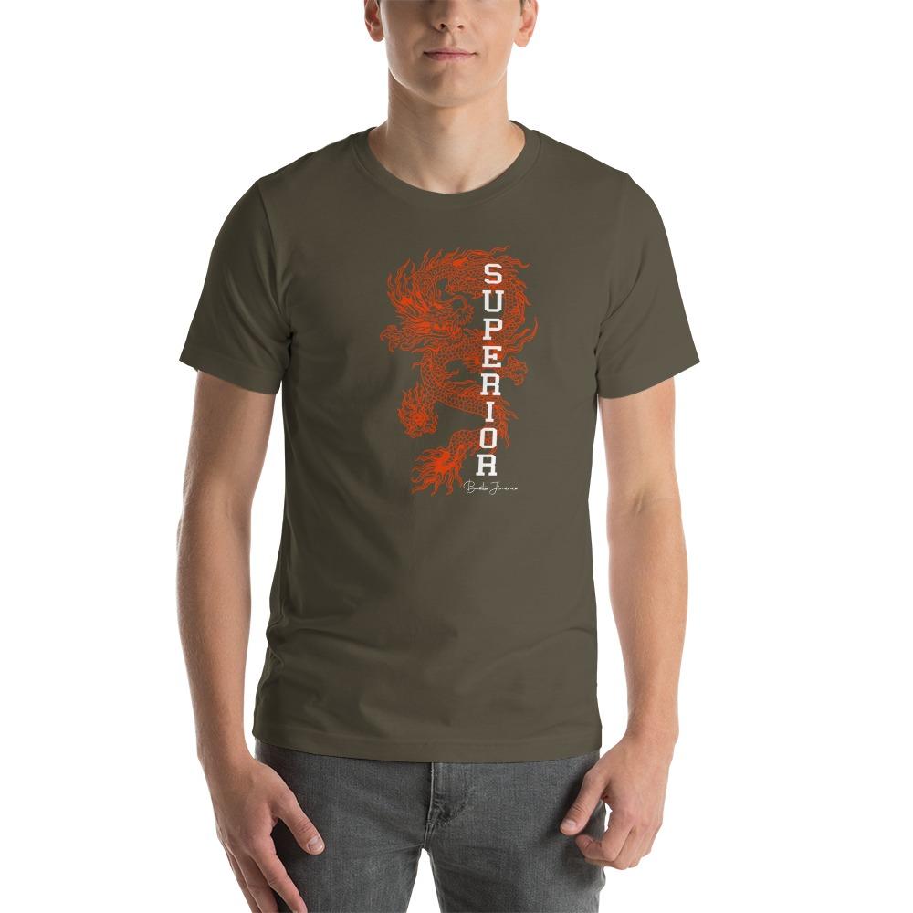 """Superior Dragon"" by B.Jimenez Men's T-Shirt, Black Print"