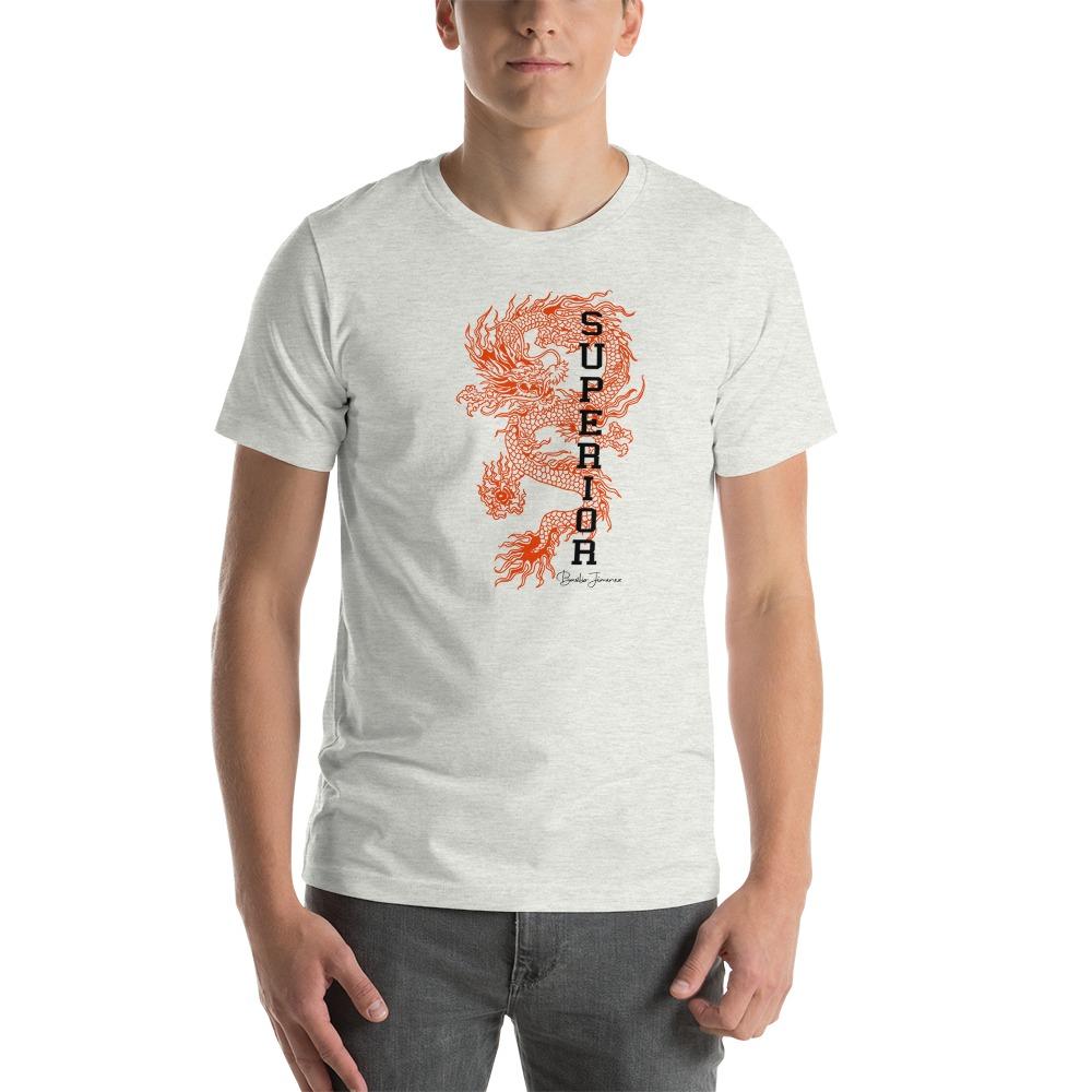 """Superior Dragon"" by B.Jimenez Men's T-Shirt, White Print"