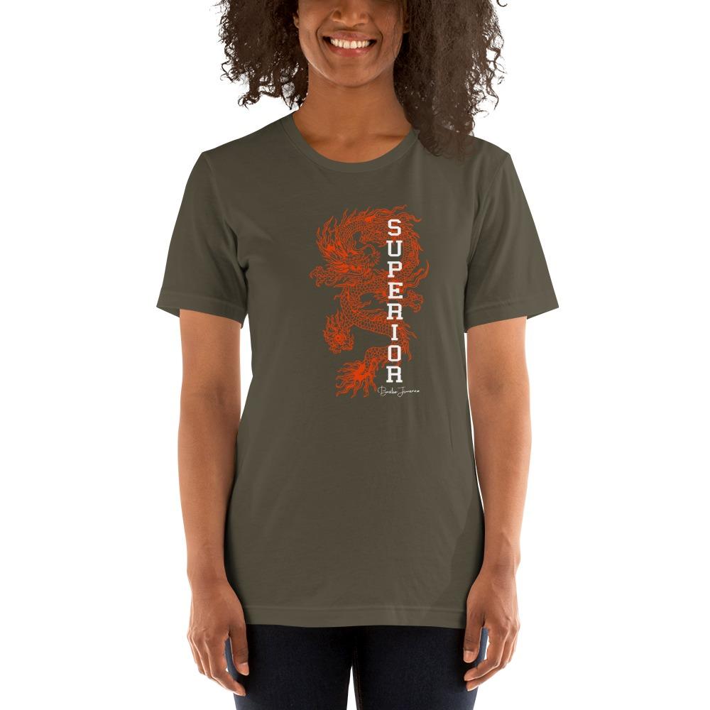 """Superior Dragon"" by B.Jimenez Women's T-Shirt, Black Print"