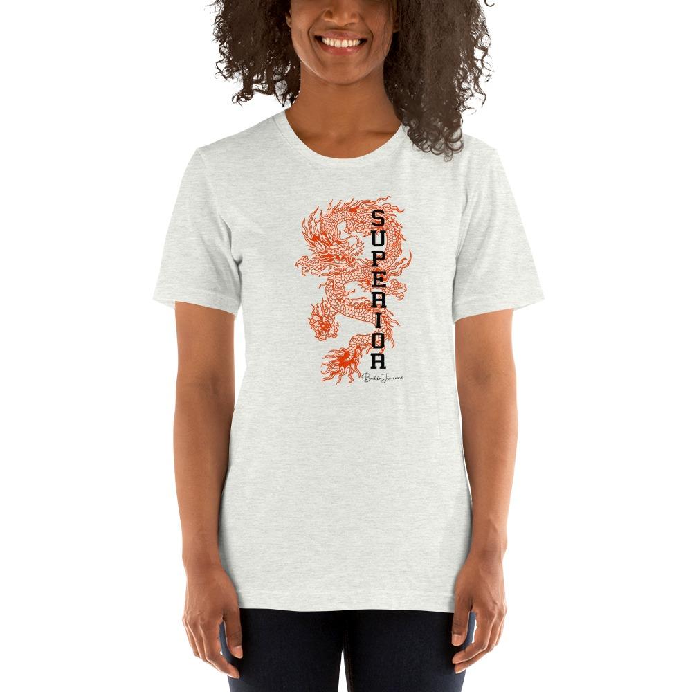"""""""Superior Dragon"""" by B.Jimenez Women's T-Shirt, White Print"""