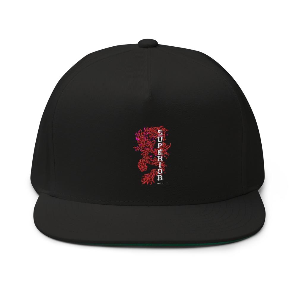 """Superior Dragon"" by B.Jimenez Hat, Black Print"