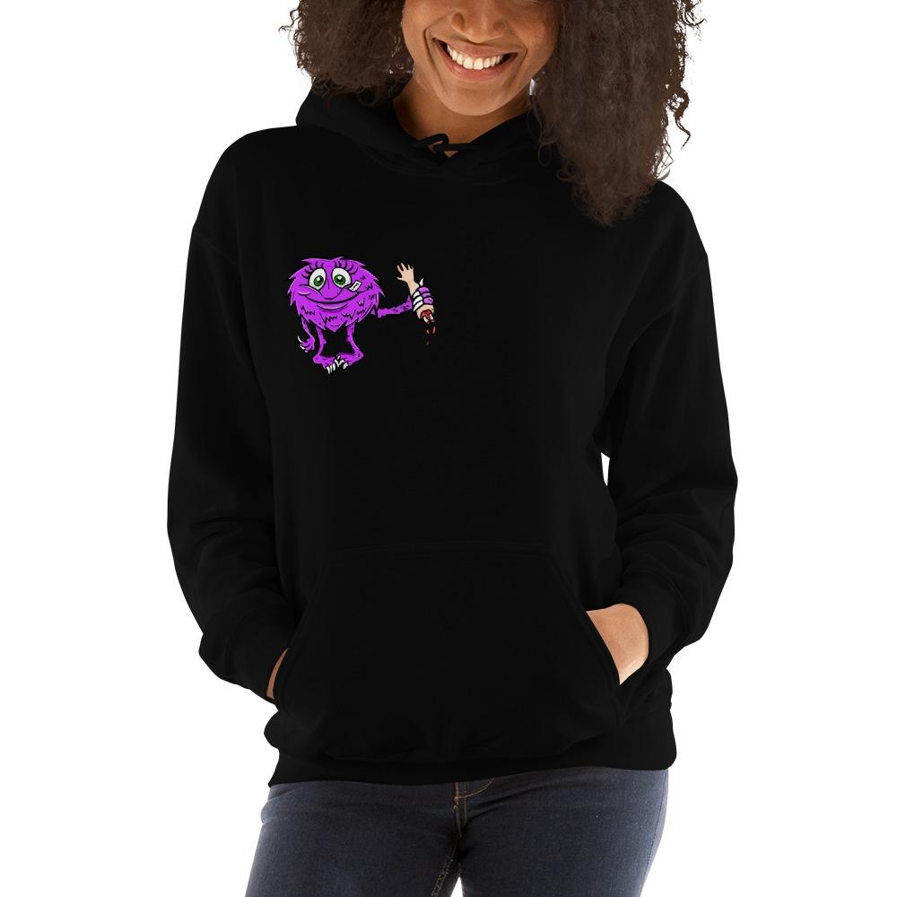 Lil Monster by Vanessa Demopoulos, Women's Hoodie, Mini Logo