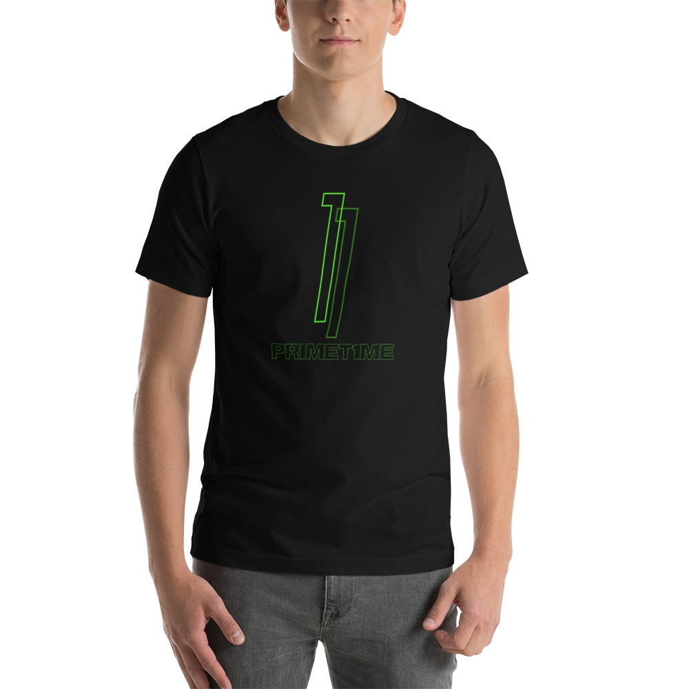 Primetime1 by Darian Littlejohn Men's T-Shirt, Black Logo