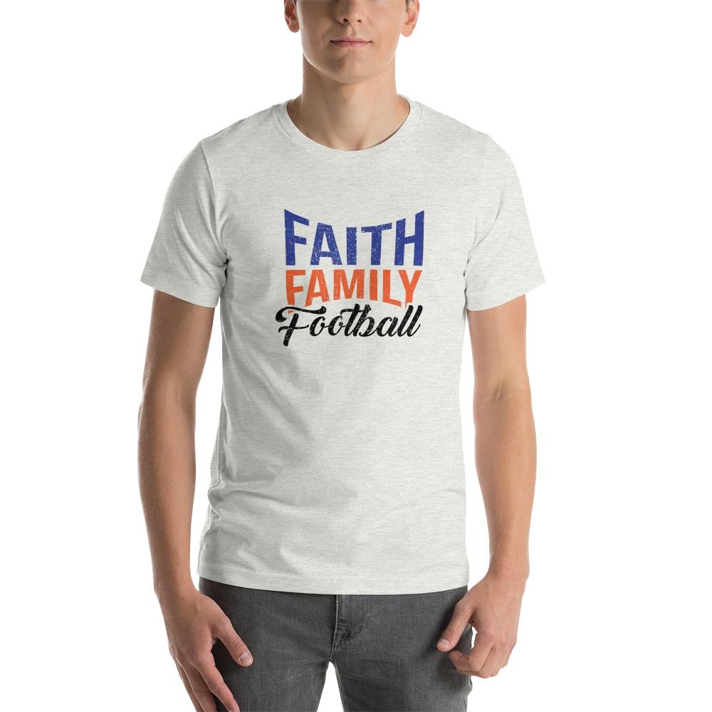 Faith, Family and Football by Coleman Bennett, Men's T-Shirt, Black Logo
