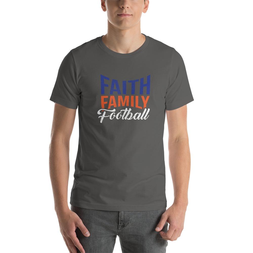 Faith, Family and Football by Coleman Bennett, Men's T-Shirt, White Logo