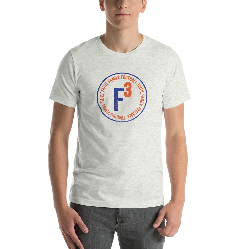 Faith, Family and Football by Coleman Bennett,  Men's T-Shirt, Circle Logo