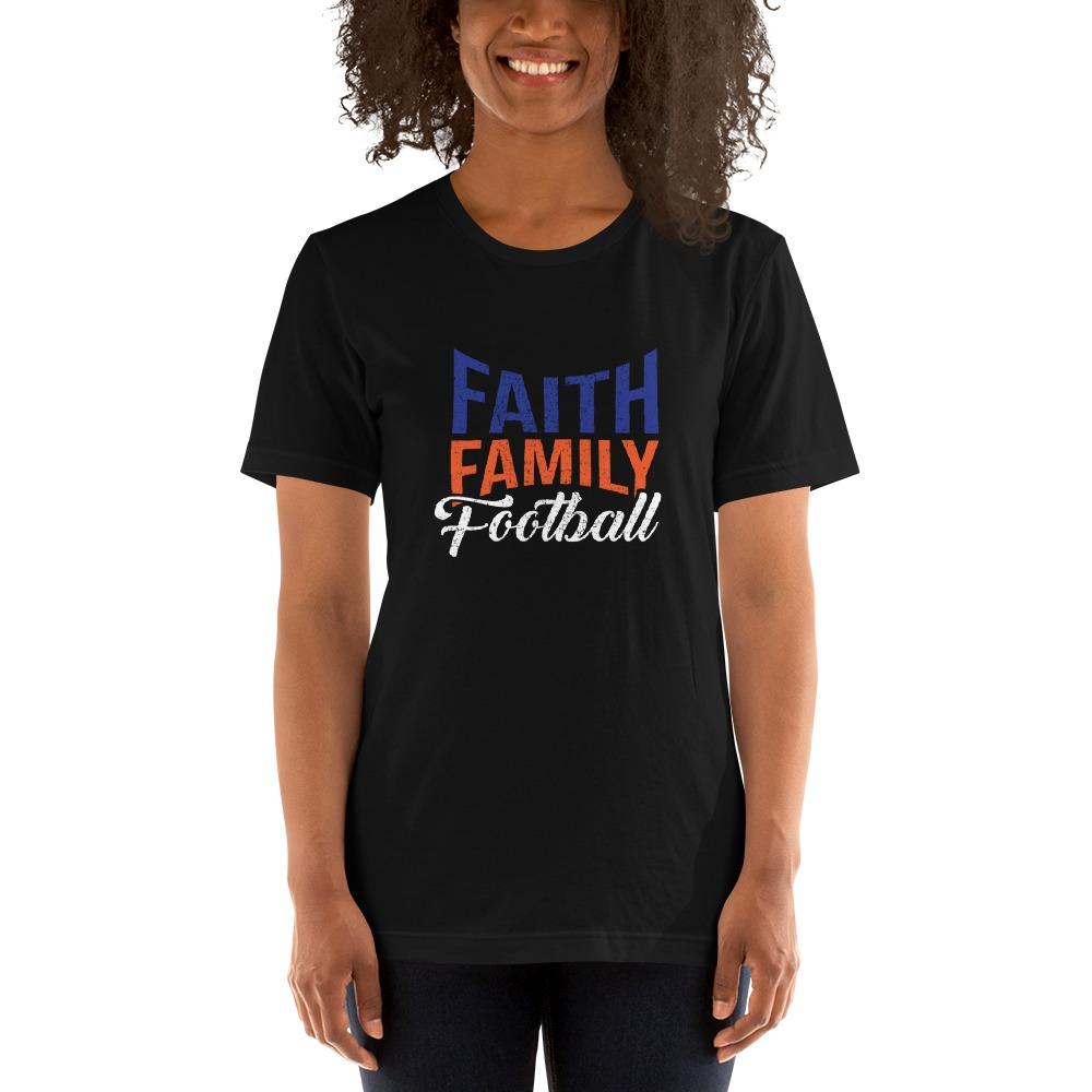 Faith, Family and Football by Coleman Bennett, Women's T-Shirt, White Logo