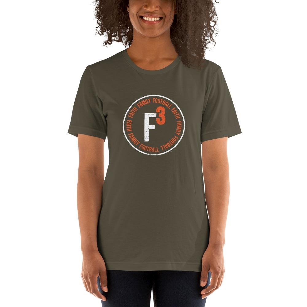 Faith, Family and Football by Coleman Bennett, Women's T-Shirt, Circle Logo, White