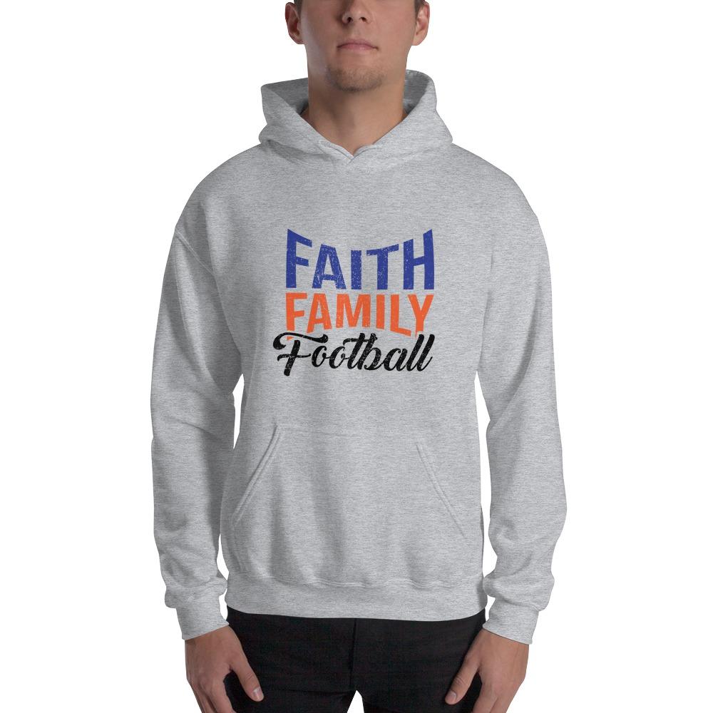 Faith, Family and Football by Coleman Bennett, Men's Hoodie, Black Logo