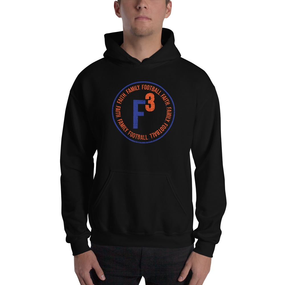 Faith, Family and Football by Coleman Bennett, Men's Hoodie, Circle Logo