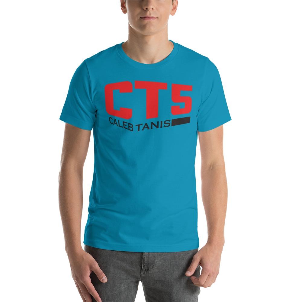"""CT5"" by Caleb Tanis Men's T-Shirt, Red & Black Logo"
