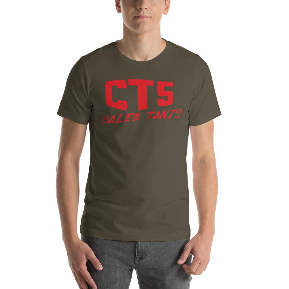 """CT5"" by Caleb Tanis Men's T-Shirt, All Red Logo"
