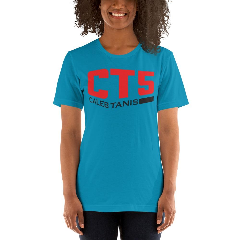 """CT5"" by Caleb Tanis Women's T-Shirt, Red & Black Logo"