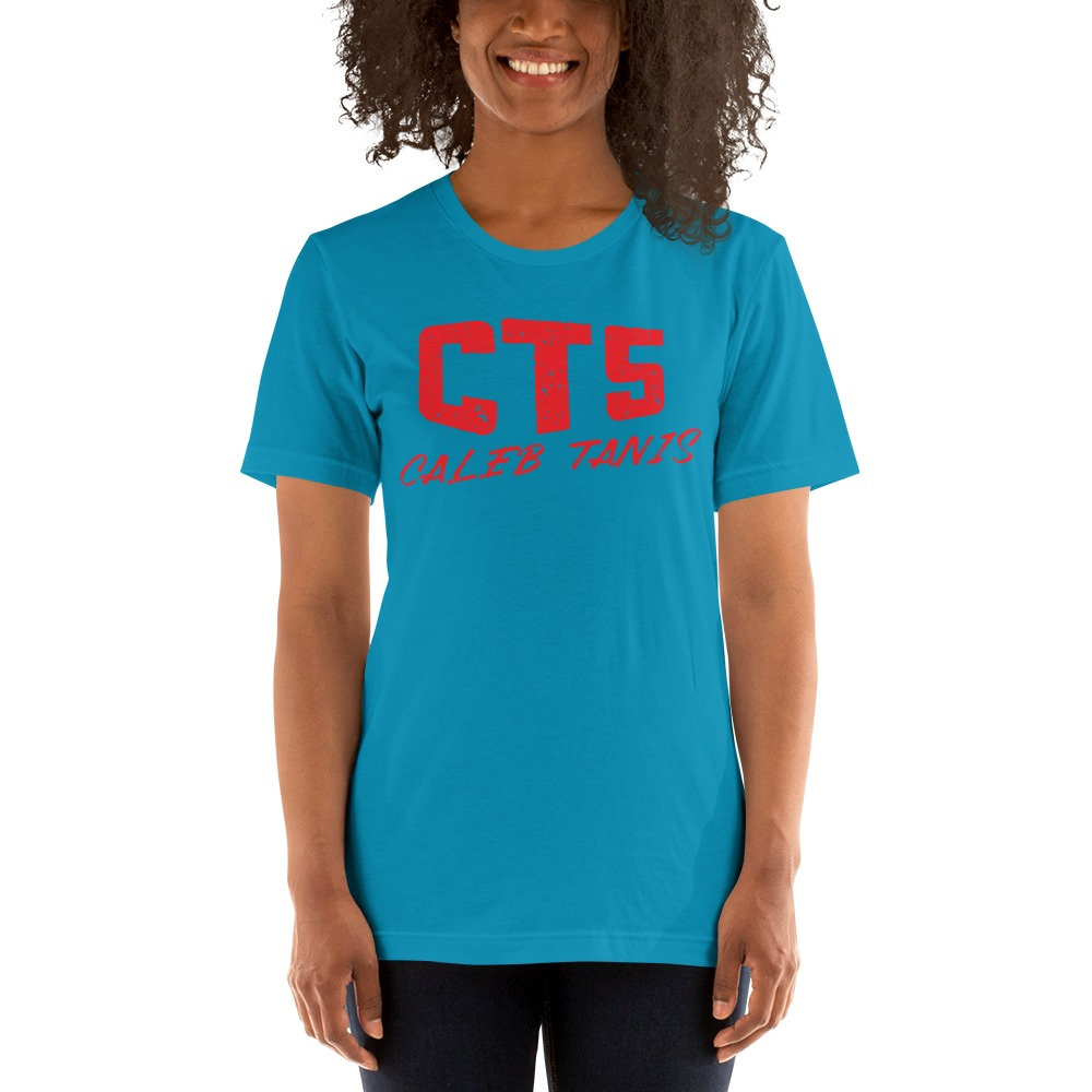 """""""CT5"""" by Caleb Tanis Women's T-Shirt, All Red Logo"""