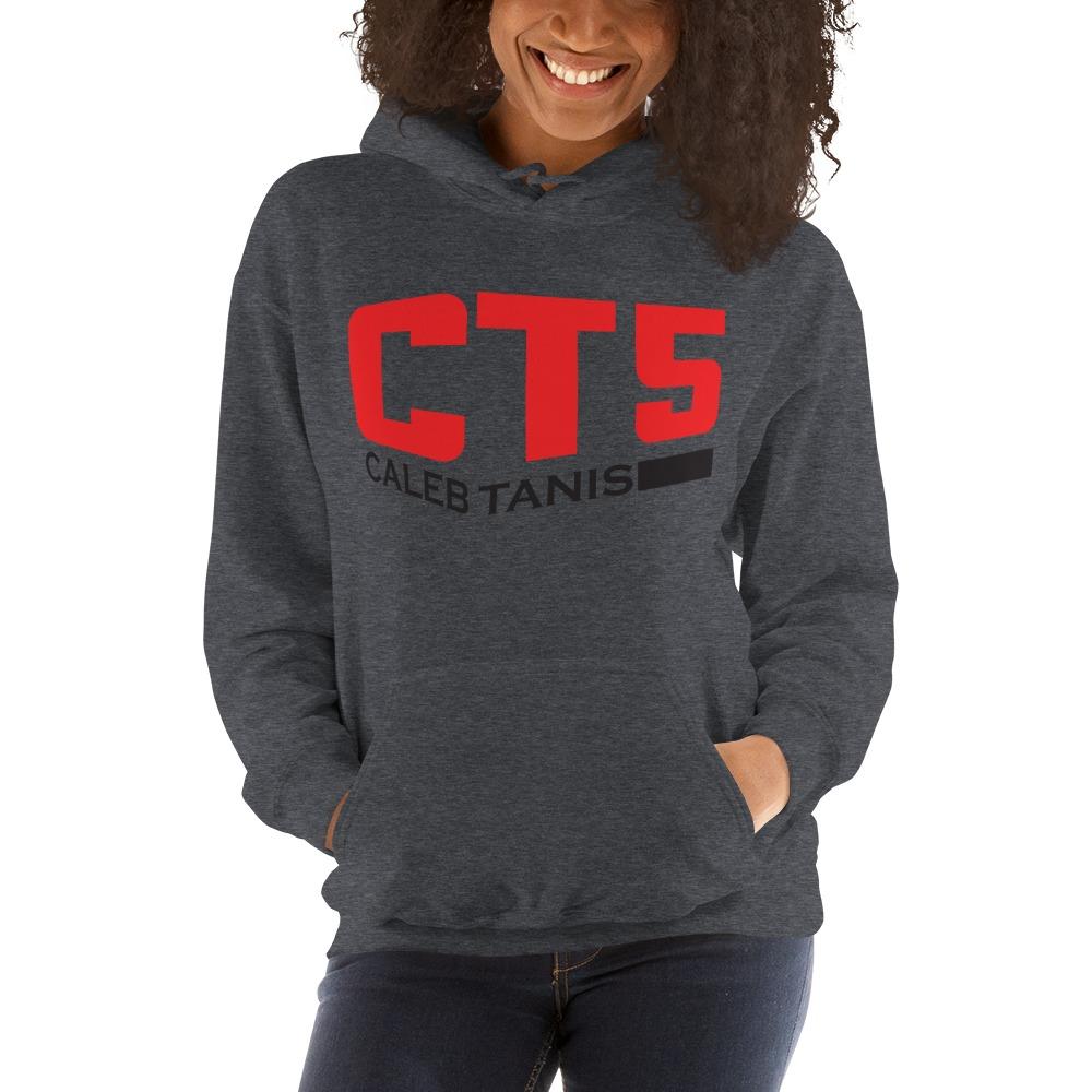 """""""CT5"""" by Caleb Tanis Women's Hoodie, Red & Black Logo"""