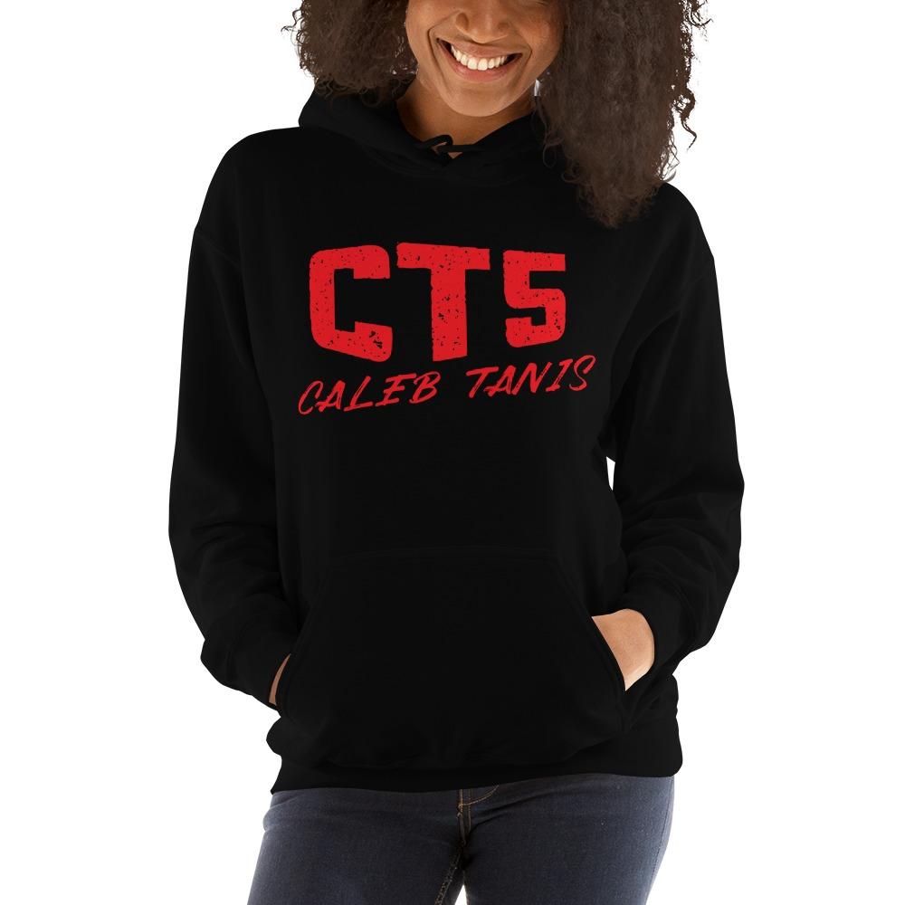 """CT5"" by Caleb Tanis Women's Hoodie, All Red Logo"