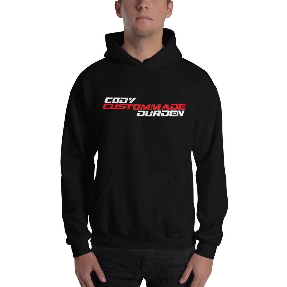 "Cody ""Custommade"" Durden, Men's Hoodie, Light  Logo"