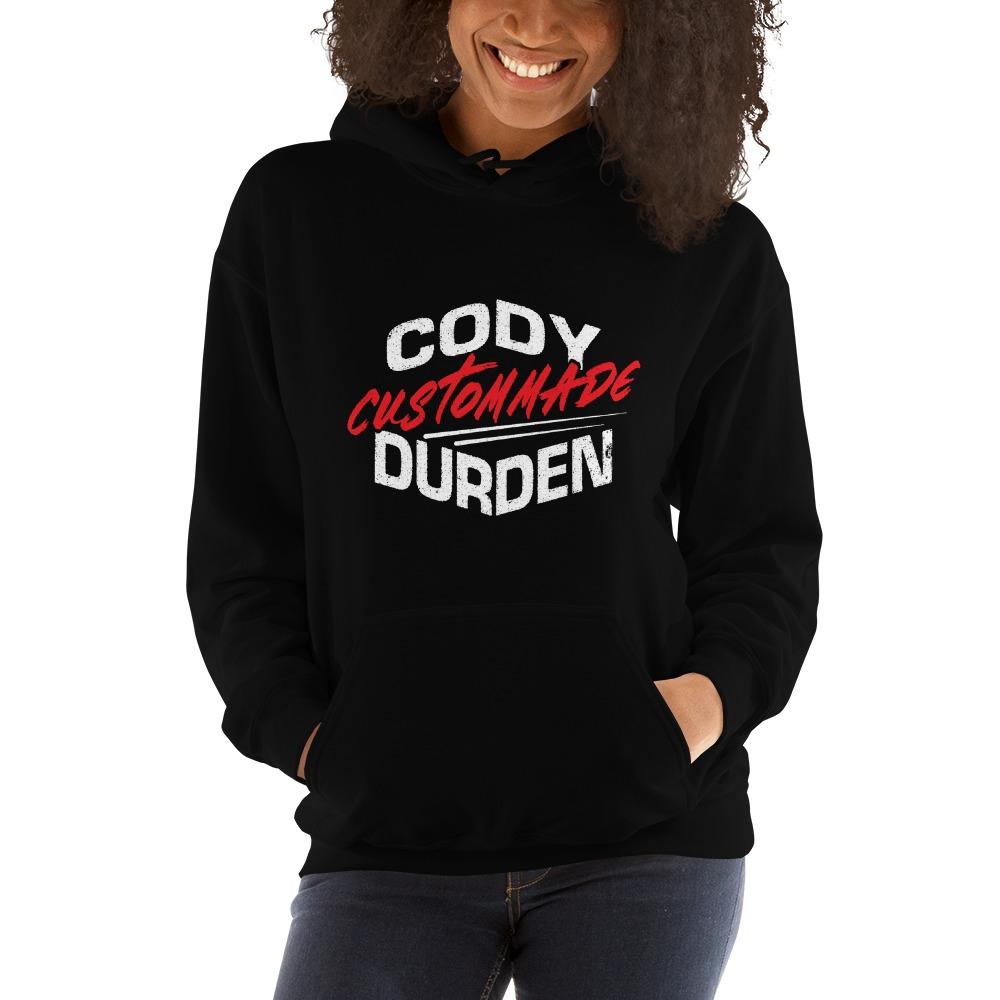 "Cody ""Custommade"" Durden, Women's Hoodie, Light Logo"