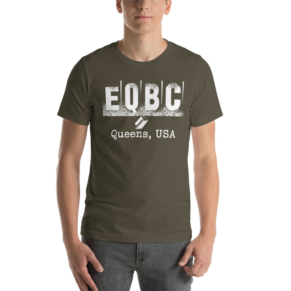EQBC by Al Alvir Men's T-Shirt , White Logo