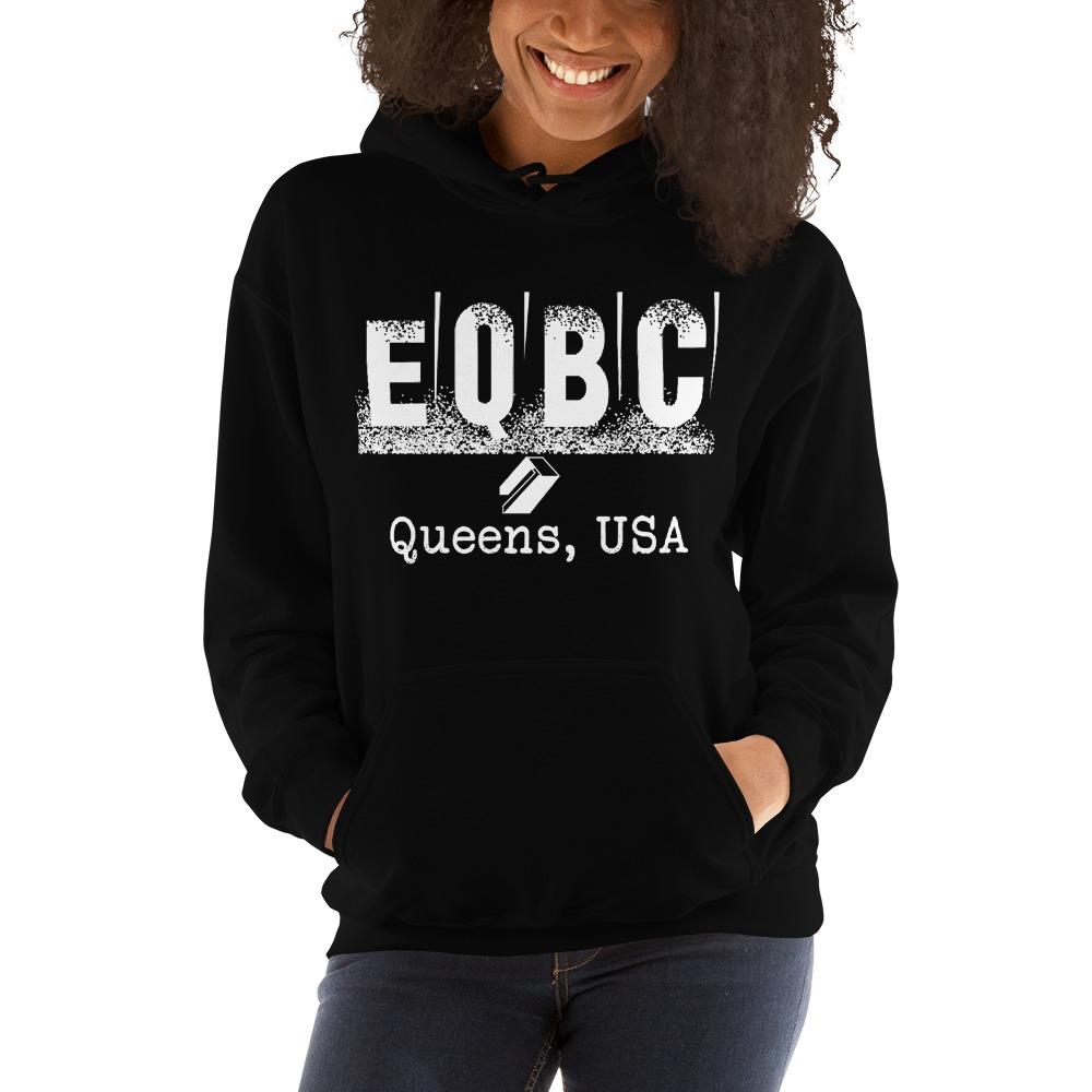 EQBC by Al Alvir Women's Hoodie , White Logo