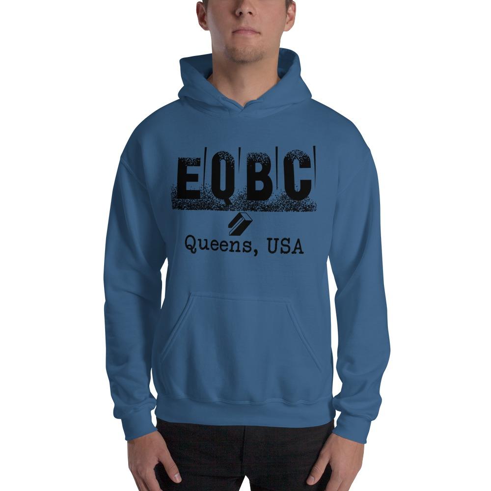 EQBC by Al Alvir Men's Hoodie , Black Logo