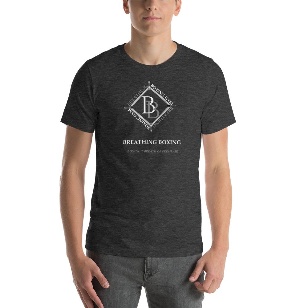 Breathing Boxing by Richard Stephenson Men's T-Shirt, White Logo