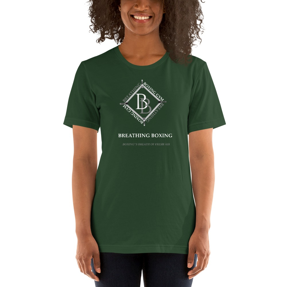 Breathing Boxing by Richard Stephenson Women's T-Shirt, White Logo