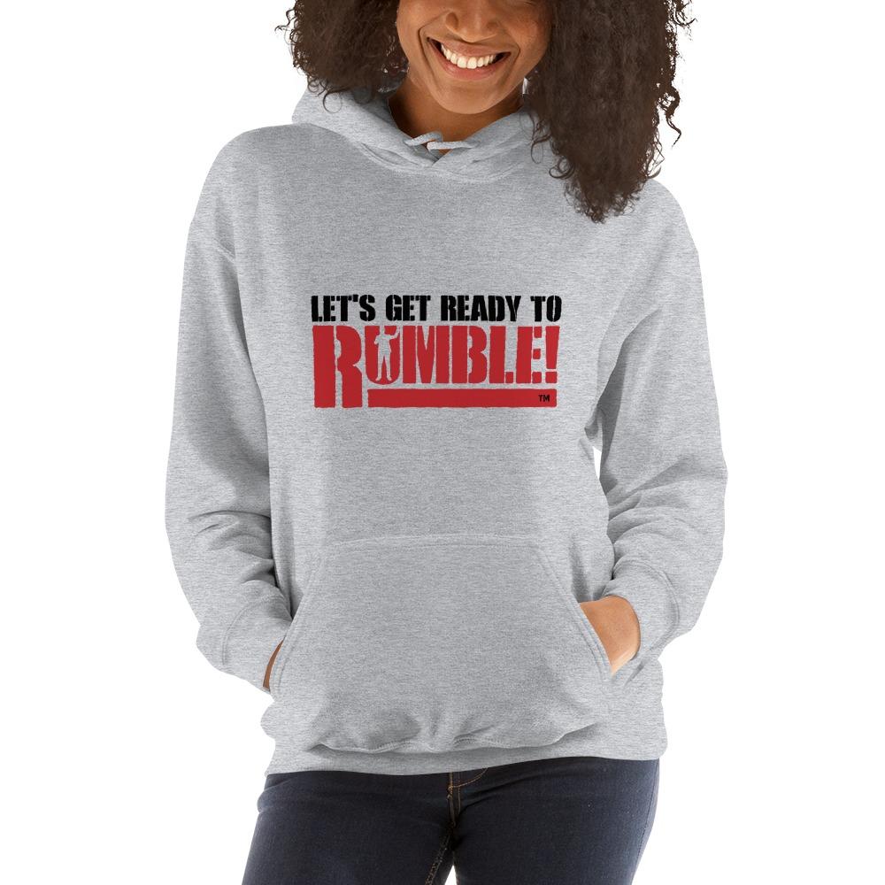 Let's get ready to rumble!™ by Michael Buffer, Women's Hoodie, Dark Logo