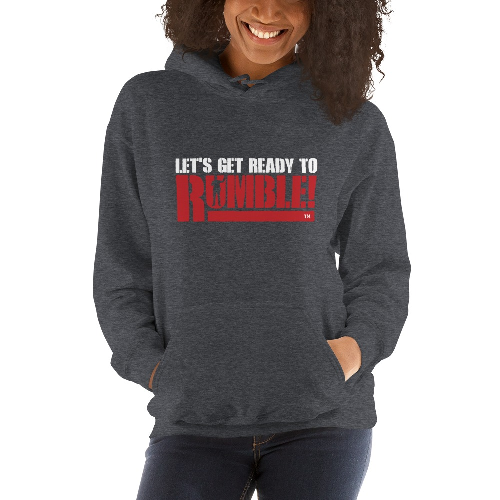 Let's get ready to rumble!™ by Michael Buffer, Women's Hoodie, Light Logo